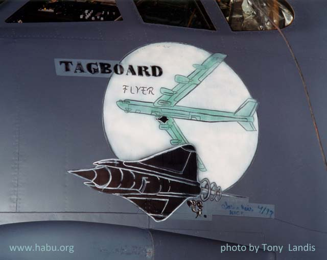 close-up of nose art on 60-0036; photo by Tony Landis