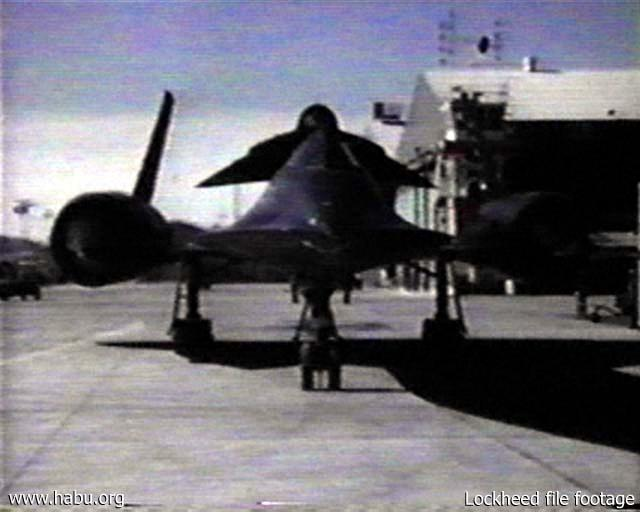 Lockheed file footage of 941 taxiing with D-21 #506 mounted